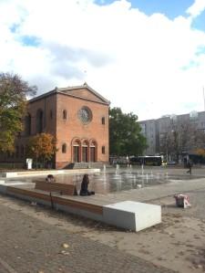 Der umgestaltete Leopoldplatz