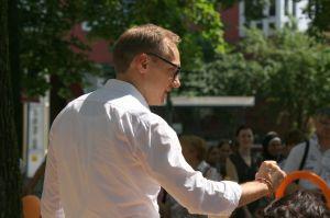 Carsten Spallek bei der Eröffnung des Lokspielplatzes