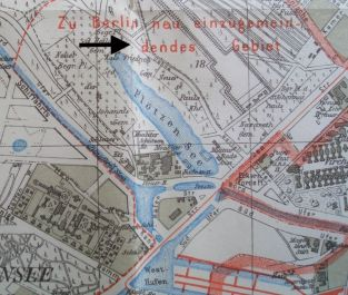 Straßenkarte 1915
