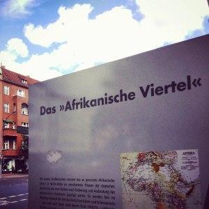 Infostele Afrikanisches Viertel